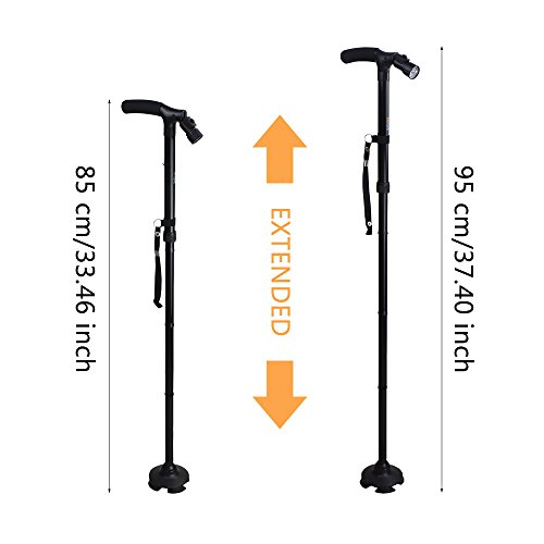 41lsVm yoXL. SS500  - BeGrit Folding Cane Dependable Ajustable Height Lightweight Folding Walking Stick Portable Cane Balancing Walking Aid…