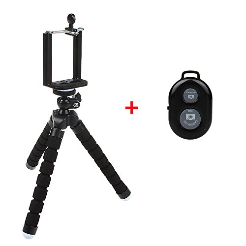 Heyqie(TM) Flexible Octopus Style Portable and Adjustable Mini Tripod for Smartphone, Camera,...