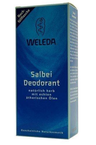 WELEDA - Desodorante de salvia, botella de relleno, desodorante natural con aceites esenciales, desodorante...