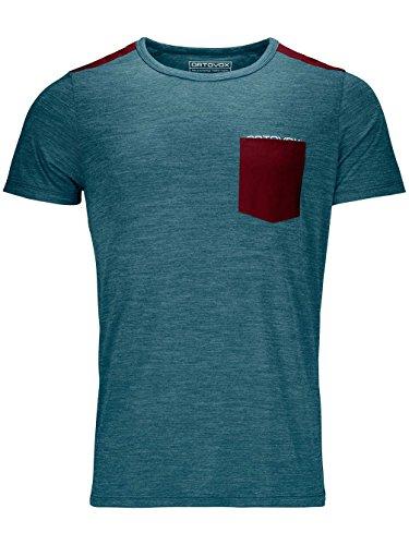 Ortovox Herren 120 Cool Tec T-Shirt, Mid Aqua Blend, L -