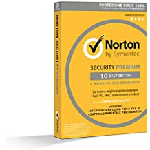 Norton Security Premium Antivirus Software 2019 | 10 Dispositivi (Licenza di 1 anno) | Compatibile con Mac, Windows, iOS e Android