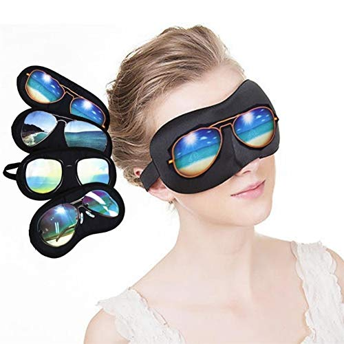 YUELANG 1 Stücke Schlafmaske Natürlichen Schlafaugenmaske Eyeshade Abdeckung Schatten Augenklappe Frauen Männer Weiche Augenbinde Sonnenbrille Muster (Color : Random Pattern Send)