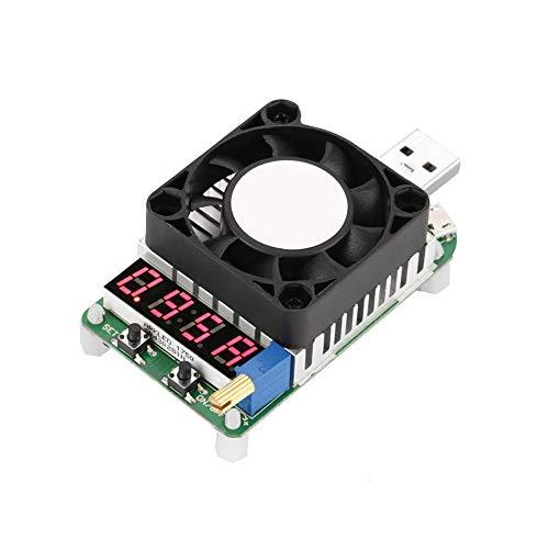 Akozon USB Load Tester Modul USB Energie Meter Prüfvorrichtung Elektronischer Belastung LD25 USB Elektronische Last Digitalanzeige Batterie Test Justierbarer Widerstand Spannungs Strom Meter