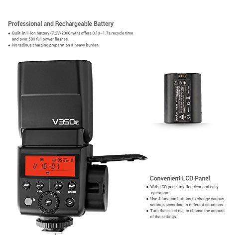 Godox-V350F-Compact-Flash-24G-Wireless-Speedlite-Master-Slave-Flash-TTL-1-8000s-HSS-per-FULIFILM-GFX50S-X-Pro2-X-T20-X-T2-X-T1-X-Pro1-X-T10-X-E1-X-A3-X100F-X100T