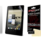 [Pack of 3] TECHGEAR CLEAR LCD Screen Protector Guards with Cleaning Cloth & Application Card For Acer Iconia A1 / A1-810 & With 3G A1-811
