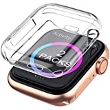 Case Compatible with Apple Watch Screen Protector Series 4 44mm,2 Pack iWatch Series 4 Soft TPU HD Clear Ultra-Thin Overall P