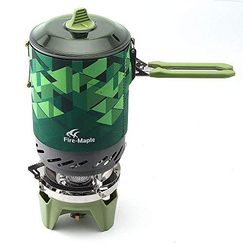 fire-maple Star fms-x2 Outdoor Kochen System tragbar Camp Herd mit Piezo Zündung Pot Support & Ständer - Ultralight KOMPAKT winddicht hohe Heizung -