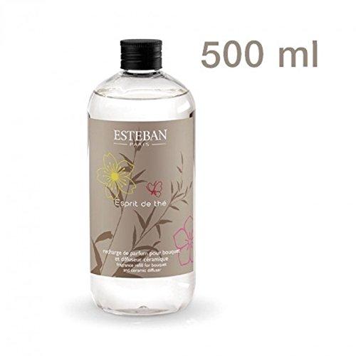XXL - Nachfüllflasche Raumduft Esteban Paris Esprit de the Kirsche und grüner Tee - 500ml