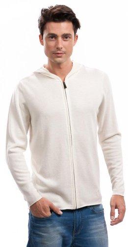 Hoodie Herren (Reißverschluss) - 100% Kaschmir - von Citizen Cashmere Weiß