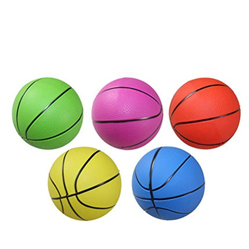 sevenmye 1PCS gemischt Farbe PVC Basketball Kid Spielzeug 10,2cm 15,2cm 20,3cm, 10 cm
