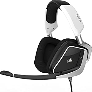 Corsair Void PRO RGB USB Gaming Headset (Customisable RGB Lighting, Microfibre Memory Foam Earcups, 7.1 Dolby Surround Sound, Optimised Unidirectional Microphone, Xbox Compatible) - White