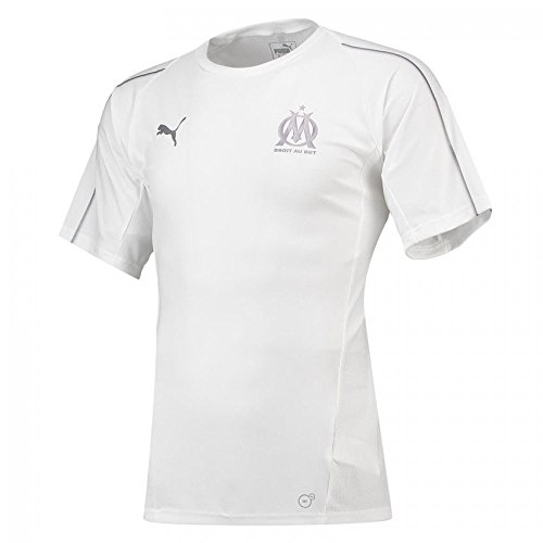 Puma Olympique de Marseille Training Jersey SS Without Sponsor Lo Maillot Homme, White, FR (Taille Fabricant : XL)