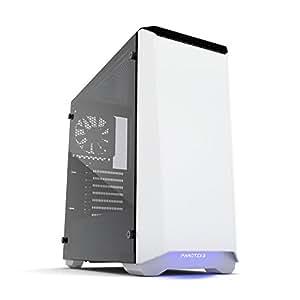 Phanteks Eclipse P400S Tempered Glass Midi-Tower White computer case - Computer Cases (Midi-Tower, PC, Acrylonitrile butadiene styrene (ABS), Glass, Steel, ATX,EATX,Micro-ATX,Mini-ATX, White, Multi)