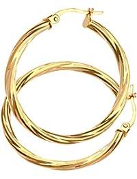 Citerna Damen-Ohrringe Creolen 9 Karat 375 Gelbgold UER040Y