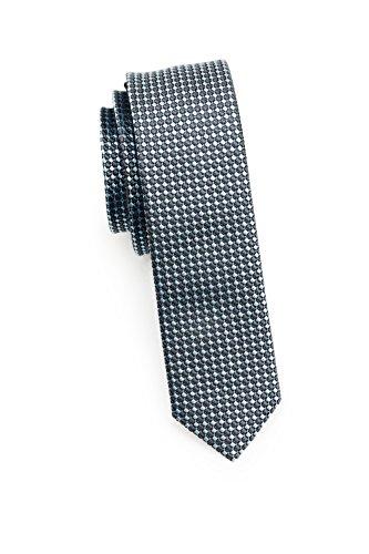 Blackbird Extra schmale Krawatte, 4 verschiedene Farben, 100% Seide, 4 cm Skinny / Slim Tie, Handarbeit (Schwarz / Weiß) (Skinny Tie Weiße)