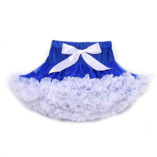 MiKia Mädchen Ballett Bowknot Rock, Kinder Petticoat Pettiskirt Tutu Kleid für Frauen Teen Adult Parteien Halloween Kostüme - Blau Tutu M&m Teen Kostüm