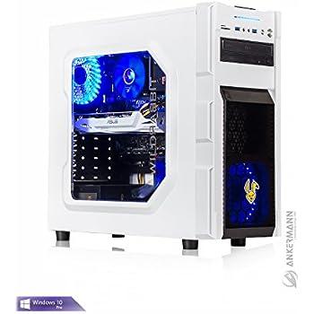 Ankermann-PC Gaming Business PC VR Ready, Intel i5 7500 4x3,40GHz, GeForce GTX 1060 6GB, 8GB RAM, 240GB SSD, Windows 10 Pro, Flüsterleise, EAN 4260370250061