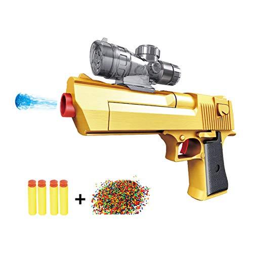 JINGYD Golden Desert Eagle Toy Foam Orbeez-Pistole Zweifach-Pistole + 10000 Crystal Bullet