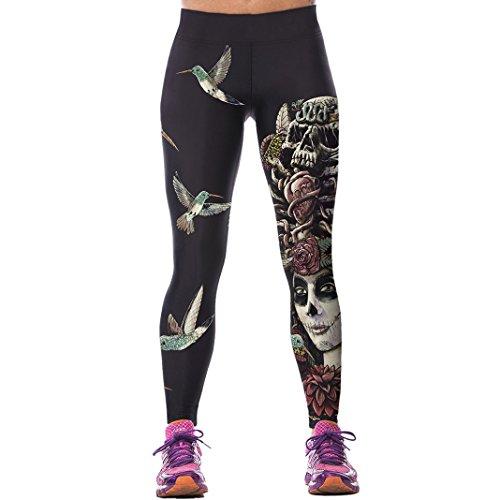 Sasairy-Donna-Sport-Pantaloni-Full-Length-Leggings-non-Pantaloni-Collant-Elastico-ci-si-Vede-Attraverso-Fitness-Workout-Yoga-in-Esecuzione-Hipster-Usura-Esterna-Palestra-EU-32-38-Colore-010