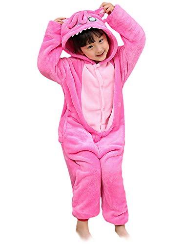 Schlafanzug Kostüm Tiere Jumpsuit Cosplay Mädchen Jungen Schlafoverall Pyjamas Nachtwäsche Einhorn Tierkostüme Karneval Overall Verkleidung Party Halloween Weihnachten 85-125 ()
