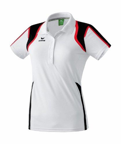 erima Damen Poloshirt Razor, weiß/schwarz/rot, 40, 111116