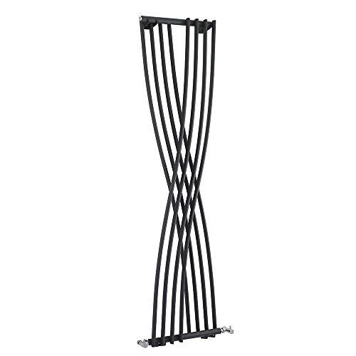Hudson Reed Design Heizkörper Vertikal aus Stahl - Xite Silber - 1775 x 450 mm