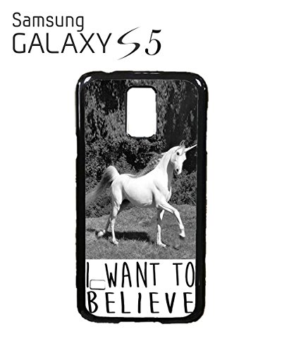 I Want To Believe Unicorn Mobile Cell Phone Case Samsung Galaxy S5 Mini Black Blanc
