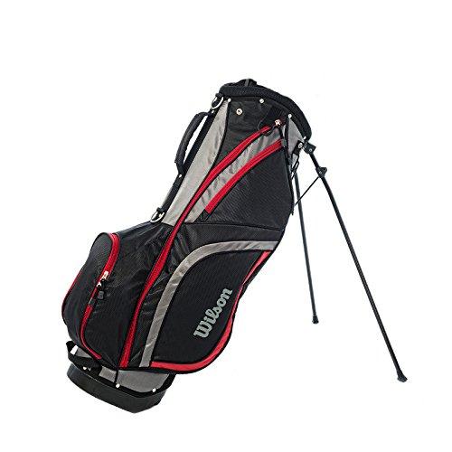 Wilson Pro Staff Carry Bag Standbag Tragebag schwarz/grau/rot