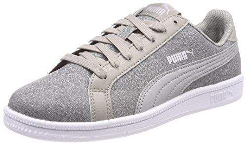 Puma Unisex-Kinder Smash Glitz Glamm Jr Sneaker Grau (Rock Ridge Silver), 39 EU
