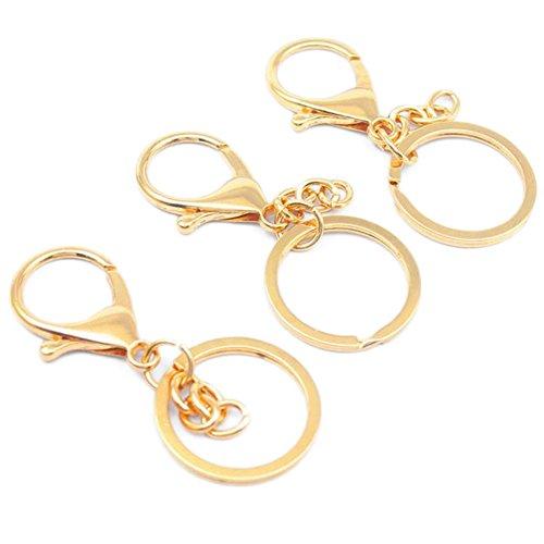 JUNGEN Schlüsselkette Gold Karabinerhaken Legierung Rucksack Anhänger Auto Schlüsselbund Schlüssel Kollektion Schlüssel Zubehör Schmuckzubehör,3 Stück