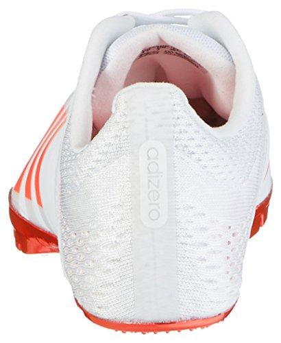 adidas Adizero Finesse, Chaussures d'Athlétisme Mixte Adulte Blanc (Ftwr White/solar Red/silver Metallic)