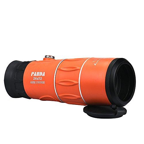 Telescopio Monocular óptico Camping de Caza Panda 26x52 66M / 8000M HD Clear Zoom Aventura Cielo Estrellado (Naranja)
