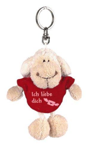 "Nici 31558 – Schaf weiß T-Shirt ""Ich liebe dich"" Bb SA 10 cm, rot"