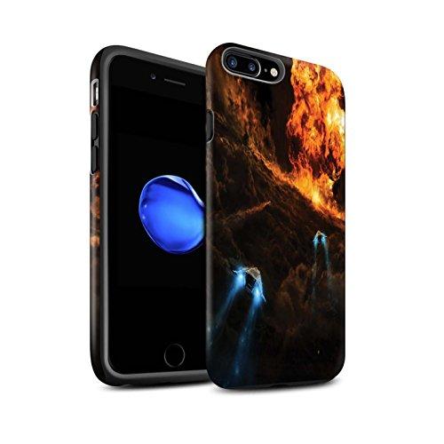 Offiziell Chris Cold Hülle / Matte Harten Stoßfest Case für Apple iPhone 8 Plus / Saphir Spitzen Muster / Fremden Welt Kosmos Kollektion Chaos Entfesselt