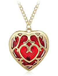 19 Likes Red Heart Maroon Red Metal Alloy Heart Pendant Necklace For Women