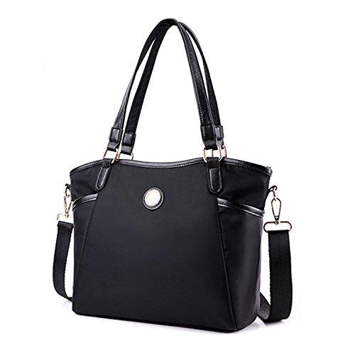 MeCooler Handtasche Mode Umhängetasche Designer Tragetasche Schultertasche Damen Taschen Mädchen Messenger Bag für Lässig Schwarz