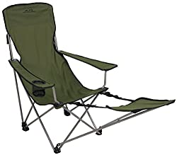ALPS Mountaineering Escape Camp Chair with Included Footrest and Shoulder Carry Bag
