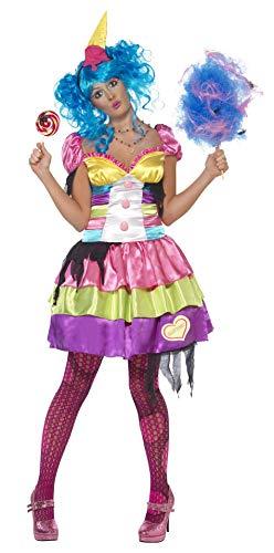 Kostüm Lollipop - Smiffys, Damen Sieben Todsünden Völlerei Kostüm, Kleid und Haarreif, Größe: S, 21520