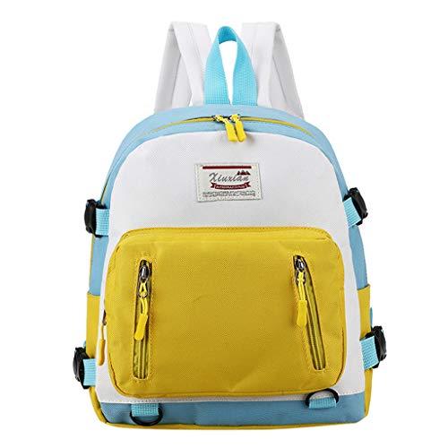Zolimx Studenten Bookbag Lässiger Tagesrucksack Laptop Rucksack Outdoor Reisetasche Weibliche Farbe Rucksack Lässig wild Große kapazität Tasche Eltern-kind-schüler Tasche