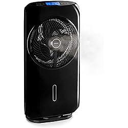 KLARSTEIN Cool Tropic FreshLine - Ventilateur sur Pied, 4 Modes de Vent, Silencieux 59 DB, Rafraîchissement Automatique, Oscillation Horizontale activable à 90°, Minuterie, Noir