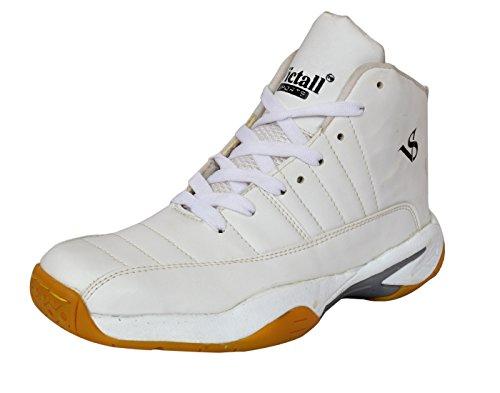 Victall V-001 Super Grand White Boy's Basketball Shoe (Pure White) (5 India/UK)