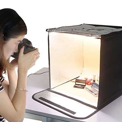 Light Boxes Gona Portable Photo Studio - 40 × 40 cm Photo Box Lichtzelt-Beleuchtungsset Mit 56 STK. 5500K LED-Lampenperlen Faltbarer Würfel Professionelle Fotografie-Box Portable Photo Studio Cube