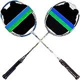 ZZTT Ensemble De 2 Raquettes De Badminton en Aluminium avec Plusieurs Combinaisons, Dont Un Sac De Badminton