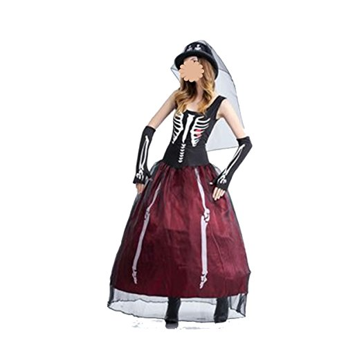 a Brautmode Tutu Zombie Kostüme Bühnenkostüme Weiblichen Vampir,A-160-175CM (Zombie Kostüme Weiblich)