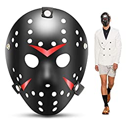 1PCS Cosplay Costume Mask Halloween Party Cool Mask Hockey Festival Mask (Nero)