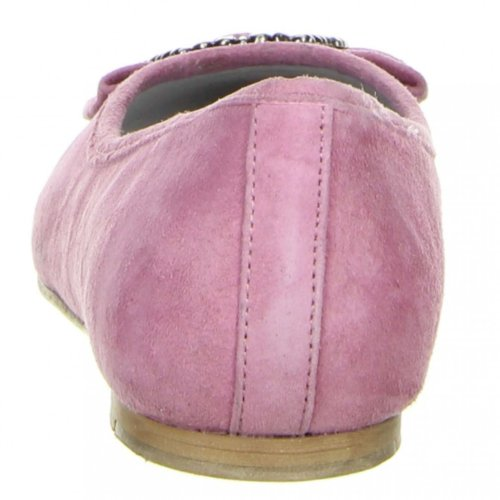 Vista Damen Trachtenschuhe Almhaferl Ballerinas rosa Rosa