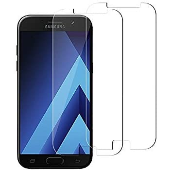 SHAC OFFER Hd+ Crystal Clear Full Screen Tempered Glass Screen Protector For Samsung Galaxy A5 2017 (PACK OF 2)