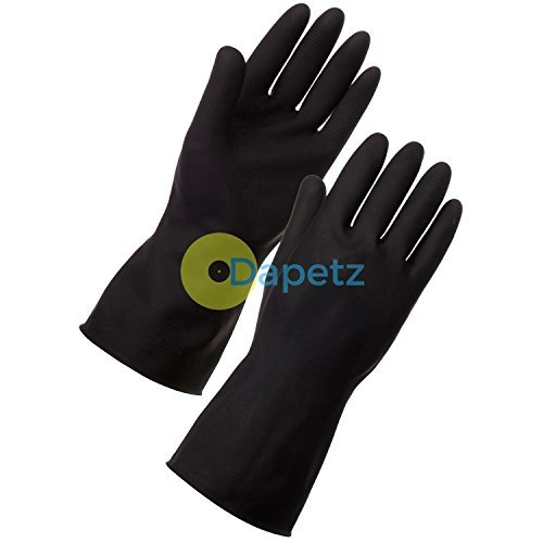 daptez-r-extended-long-sleeve-black-cleaning-gloves-medium-cleaning-car-wash-household
