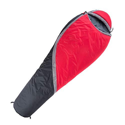 KIOio Sacco a Pelo Singolo Caldo Esterno Addensato, Portatile e Leggero, Adatto a 3-4 Stagioni di Campeggio, Escursioni e all\'aperto (Colore : Red)