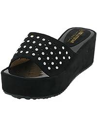 AgeeMi Shoes Mujer Puntera Abierta Plataforma Tacon Alto Sandalia de Cuña